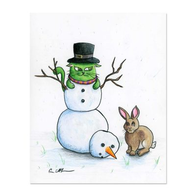 Frosty Wanna-be - Art Print