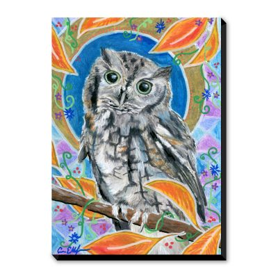 Autumn Screech Owl - Art Print