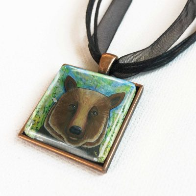 Bear in Flowers - Pendant