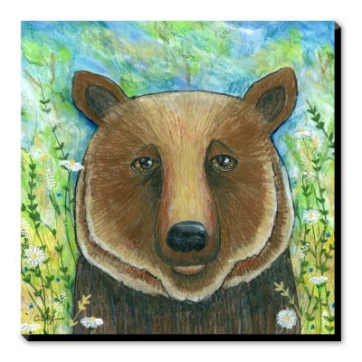 Bear in Flowers - Art Print