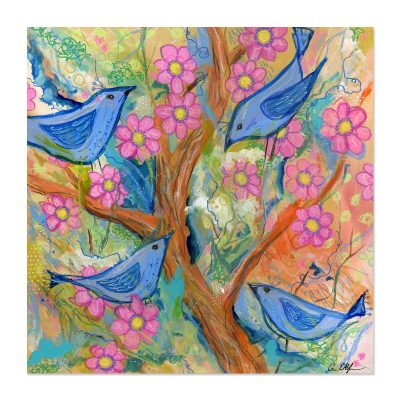 Birds and Blossoms - Art Print