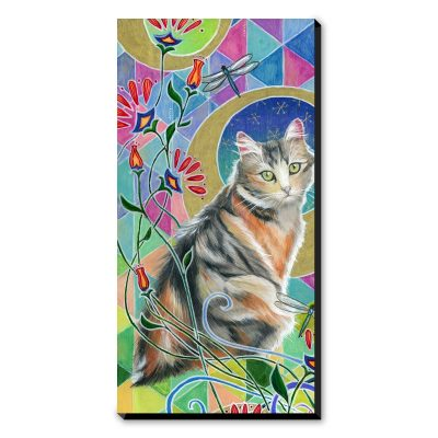 Calico and Dragonflies - Art Print