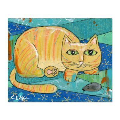 Cat and Mouse - Art Print
