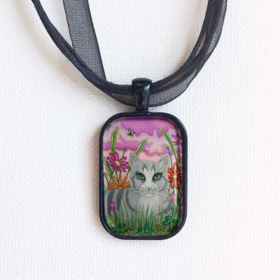 Cat in the Clover - Pendant