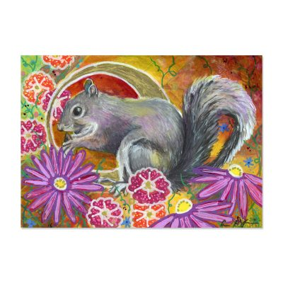 Fall Squirrel - Art Print