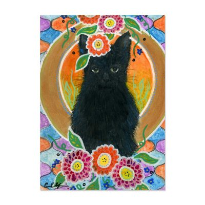 Little Black Fluff - Art Print