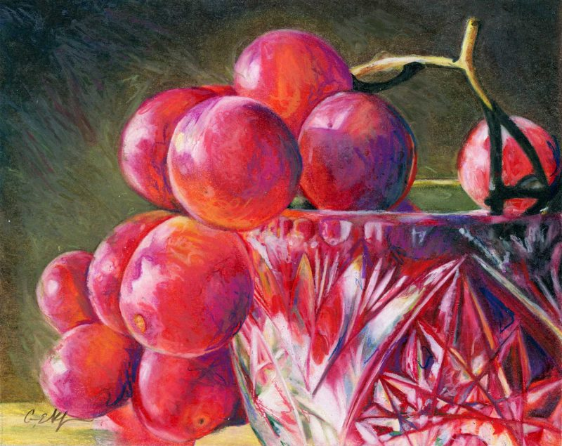 """""""Seedless"""", 8"""" x 10"""", colored pencil"""