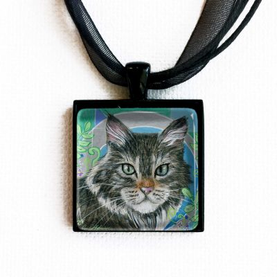 Whiskers and Ferns - Pendant