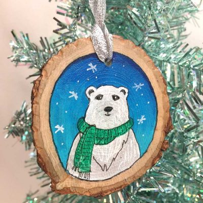 Polar Bear Ornament - Original Art