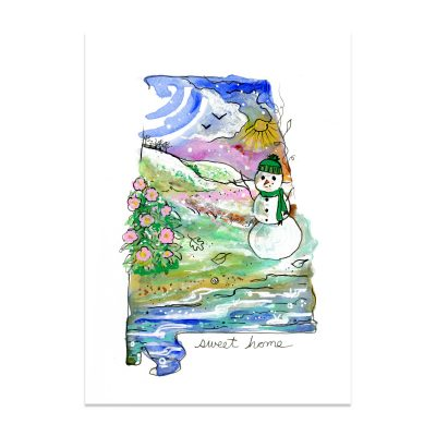 Sweet Home Snowman - Art Print