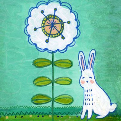 bunny-and-flower